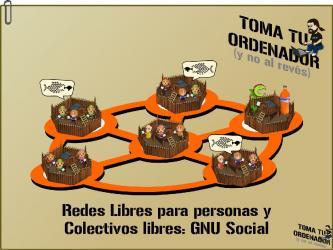 [vídeo (audio + diapos)] Redes libres para personas y colectivos libres: GNU Social